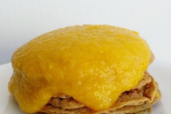 tortitas de amaranto con mango