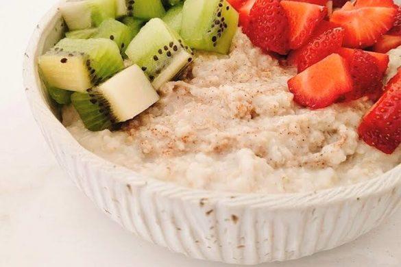 porridge clásico con frutas