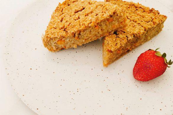 Tarta de manzana, zanahoria y avena