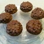 Amaranth cupcakes with coconut and chocolate ganache, gluten free