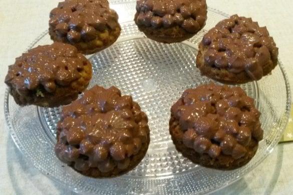 Cupcakes de amaranto con ganache de coco y chocolate