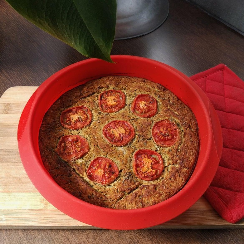 Zucchini salty cake: vegan and gluten-free