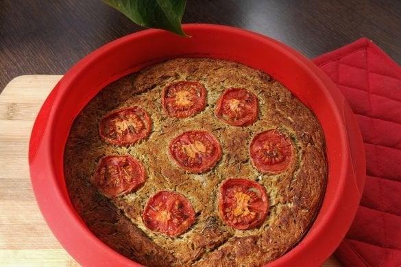 Tarta salada de calabacín: vegana y sin gluten
