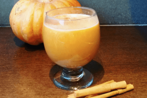 Un toque naranja: Pumpkin spice latte sin lactosa