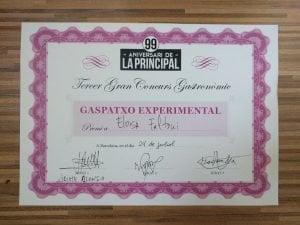 Premio al gazpacho experimental