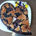 gluten-free marble cake with blueberries and lime