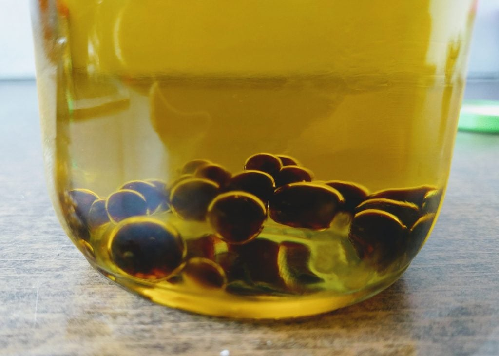 Perlas de vinagre balsámico