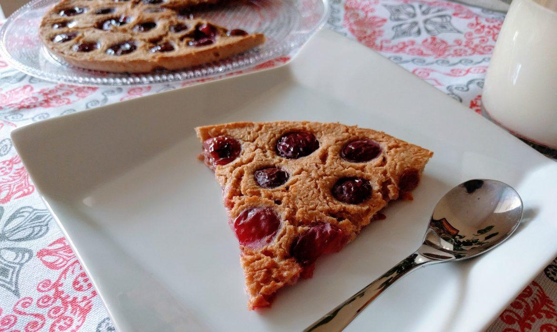 Cherry vegan clafoutis: a summer cake