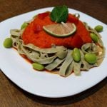 Red pepper sauce, raw and vegan