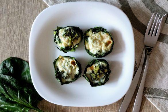 Muffins con espinacas y brócoli