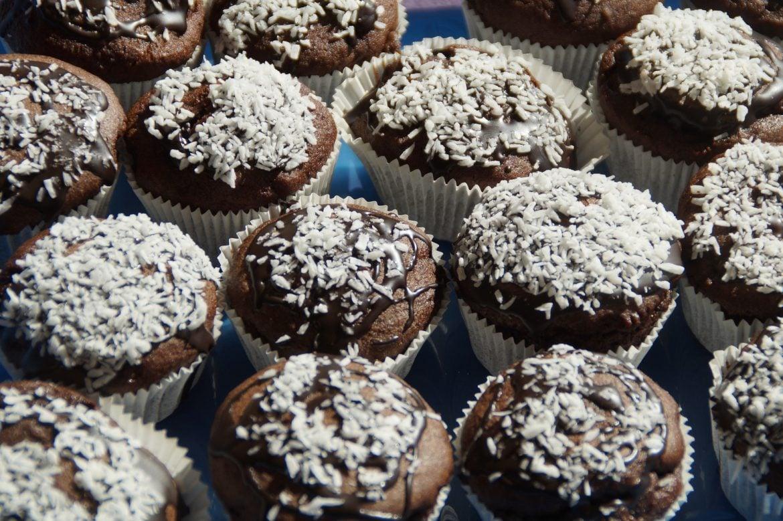 Muffins de cacao y coco