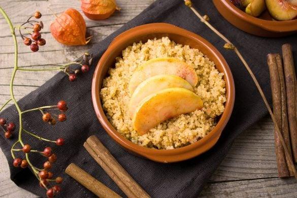 Quinoa con manzana y canela
