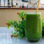Green smoothie with grapefruit