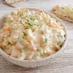 Egg salad with homemade mayonnaise
